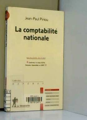 JEAN-PAUL PIRIOU - LA COMPTABILITE NATIONALE