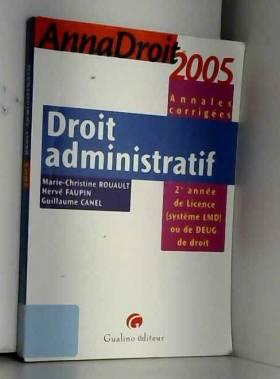 Droit administratif : 2e...