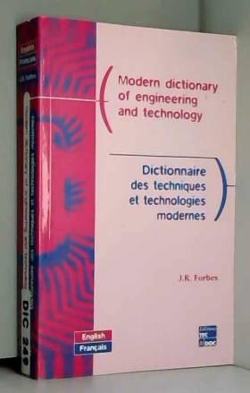 Dictionnaire des techniques...