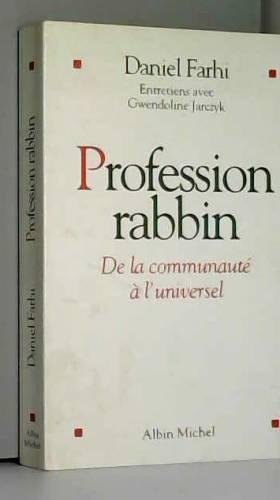 Profession rabbin : De la...