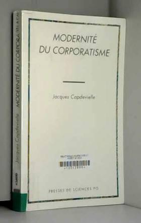 Modernité du corporatisme