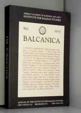 COLLECTIF - BALCANICA 2005.INSTITUTE FOR BALKAN STUDIES
