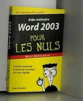 Word 2003 : Mini référence...