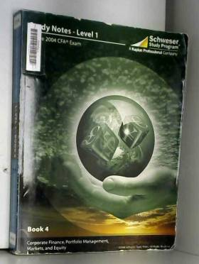 Schweser Study Program - Schweser Study Notes for the 2004 CFA Exam, Level 1 Book 4 Corporate Finance, Po