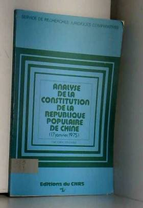 Analyse de la Constitution...