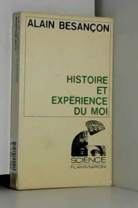 Histoire et expérience du moi.