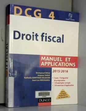 DCG 4 - Droit fiscal...