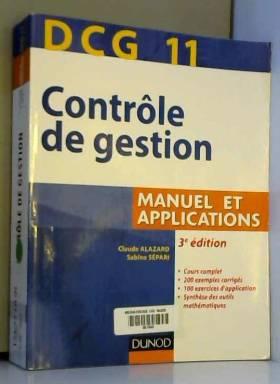 DCG 11 - Contrôle de gestion - 3e édition - Manuel et applications