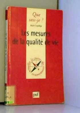 Les mesures de la qualité...
