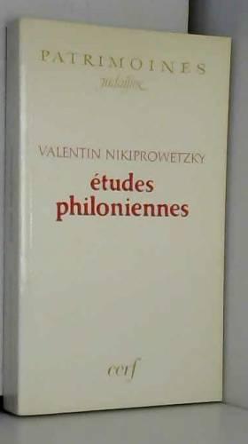 Etudes philoniennes
