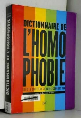 Dictionnaire de l'homophobie