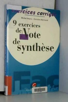 9 EXERCICES DE NOTE DE...