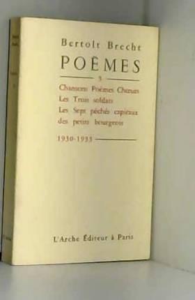 Poèmes, tome 3 : 1930-1933