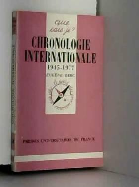 Chronologie Internationale...