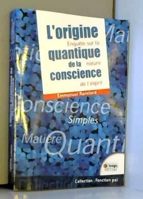 L'origine quantique de la...