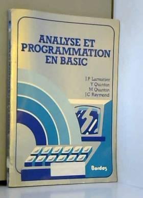 Analyse et programmation en...