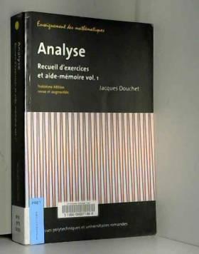 Analyse - Vol.1: Recueil...