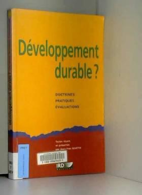 Développement durable ?...
