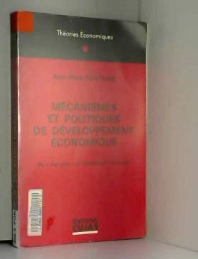 """Jean-Marc Fontaine - Mécanismes et politiques de développement économique : du """" big push """" à l'ajustement structurel"""