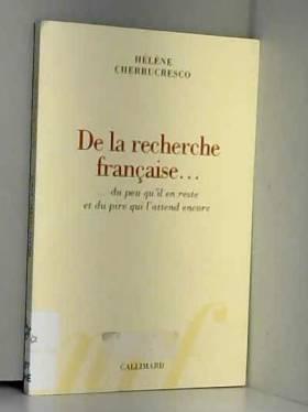 De la recherche française