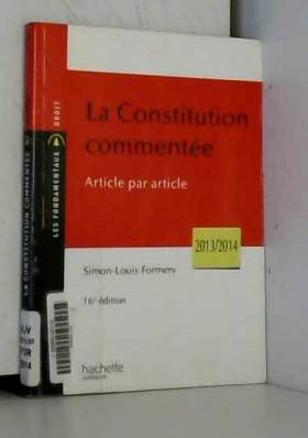 Simon-Louis Formery - La Constitution commentée article par article