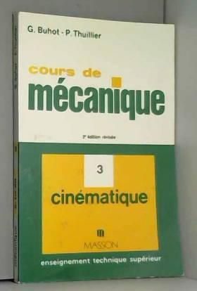 COURS DE MECANIQUE. Tome 3,...