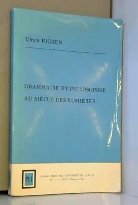 Grammaire et philosophie au...
