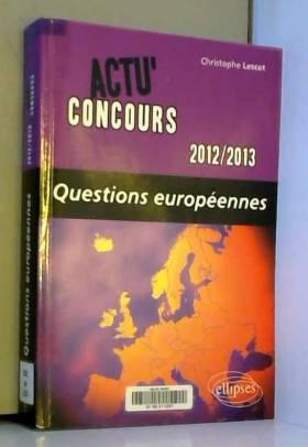 Questions Européennes 2012-13