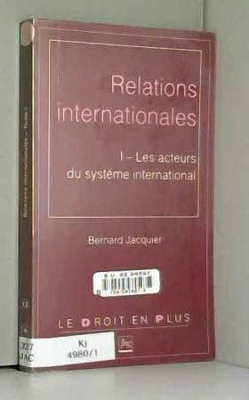 RELATIONS INTERNATIONALES :...