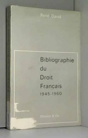 Bibliographie du droit...