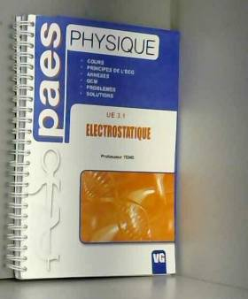 Electrostatique UE 3.1