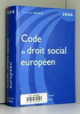 Code de droit social...