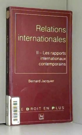 Relations internationales....