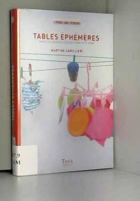 Tables éphémères