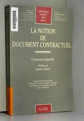 La notion de document...