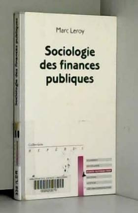 Sociologie des finances...