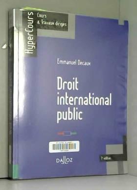 Droit international public...