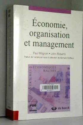 Economie, organisation et...