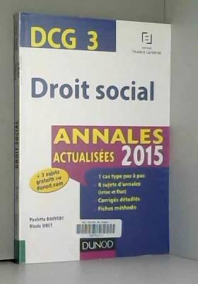 DCG 3 - Droit social -...