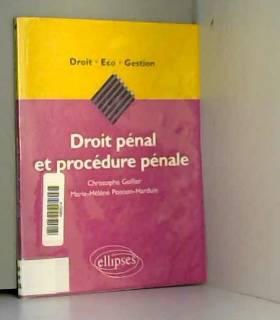 Droit pénal et procédure...