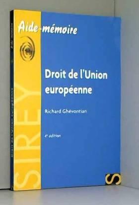 Droit de l'Union européenne...