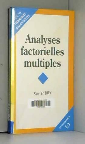 Analyses factorielles...