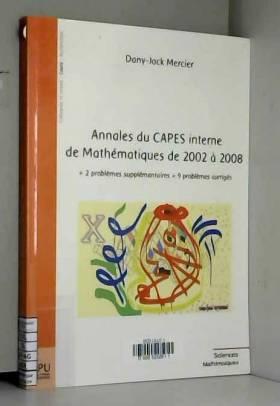 Annales du Capes interne de...