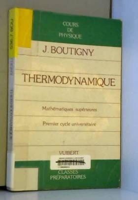Thermodynamique: Classe de...