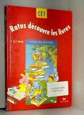 Ratus Decouvre Les Livres Ce1 Manuel Methode De Lecture