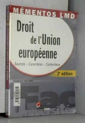 Stéphane Leclerc - Droit de l'Union européenne