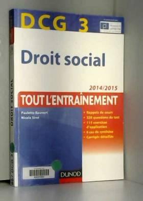 DCG 3 - Droit social...