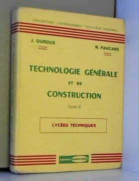 Technologie generale et de...