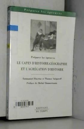 CAPES d'histoire-géographie...