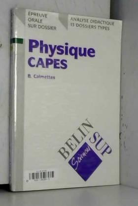 Physique, CAPES : Epreuve...